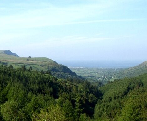 Glenariff Forest Park view from the car park